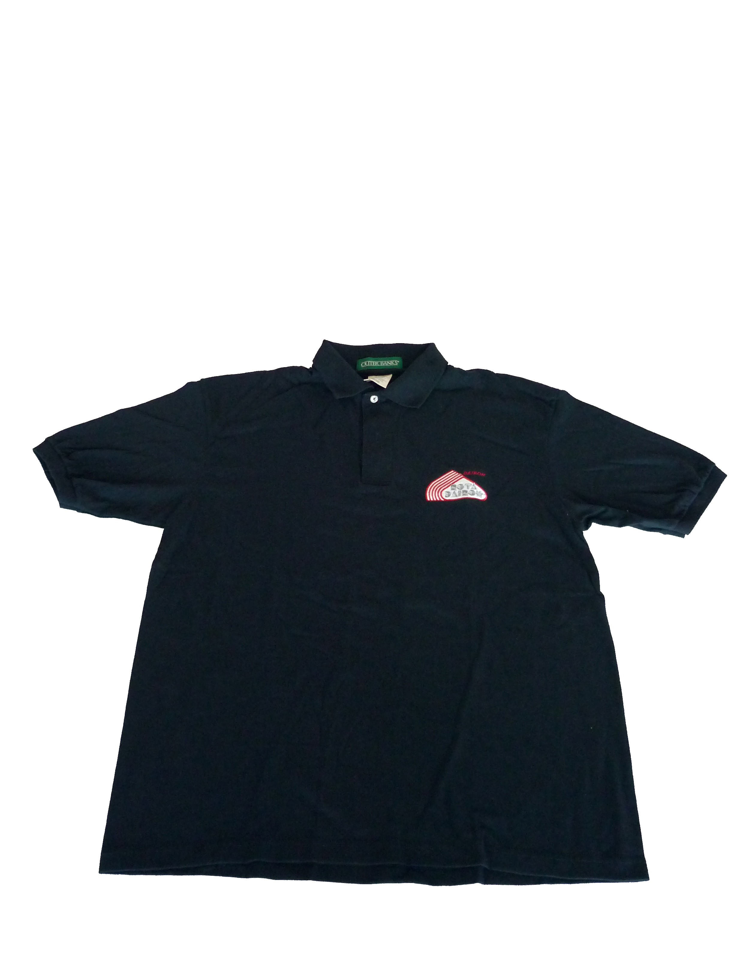 Black RotaDairon polo shirt - view from the top
