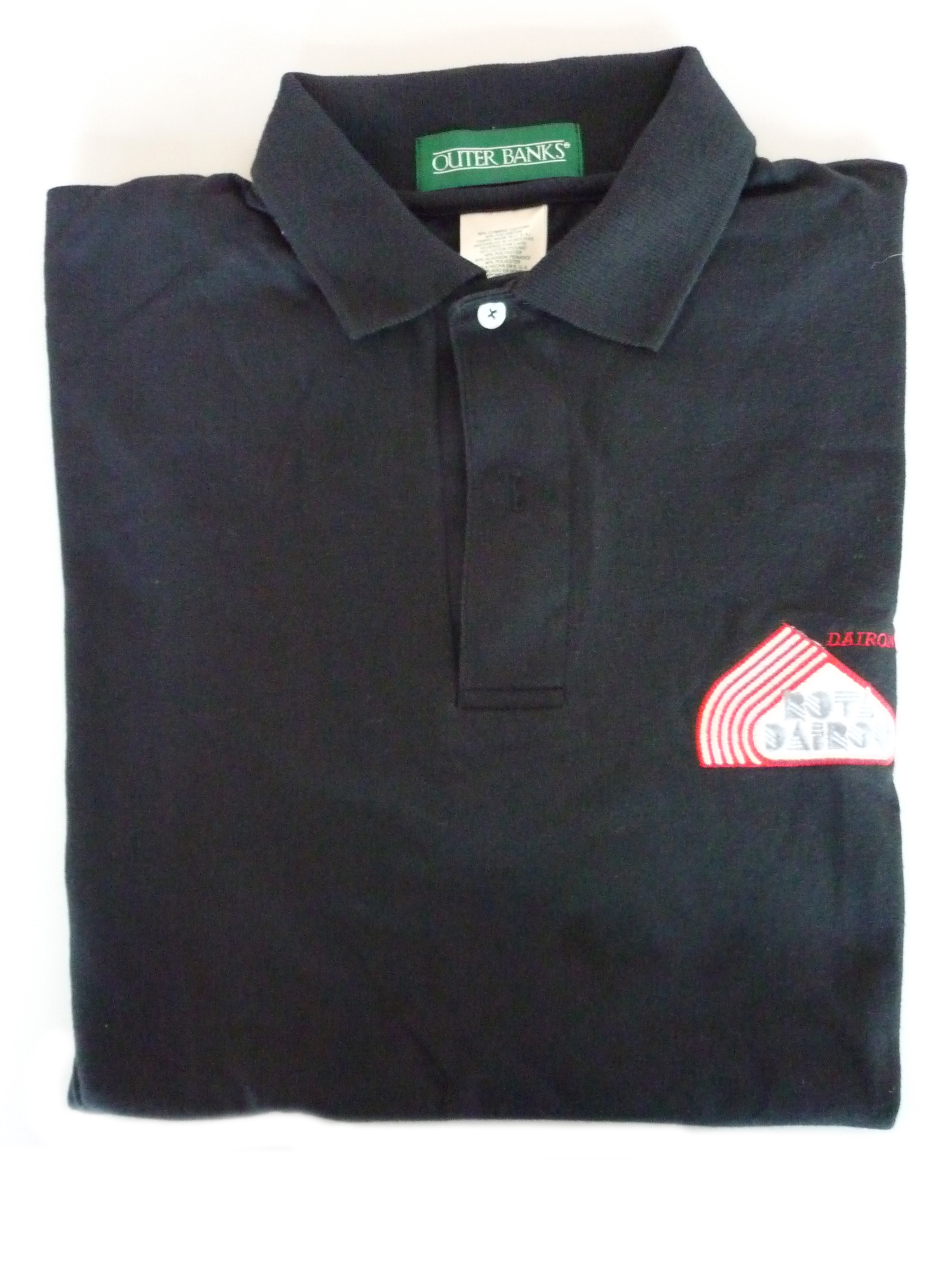 Black RotaDairon polo shirt - folded